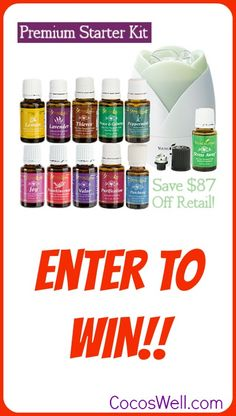 Enter To WIN a Premium Starter Kit!!!  11 amazing essential oils and a diffuser!  www.cocoswell.com.