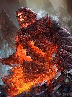 Cyclops King adv by JohnSilva on deviantART Fantasy Monster, Monster Art, Illustrations, Illustration Art, Fire Giants, Beast Creature, Legends And Myths, Fantasy Island, Creature Concept