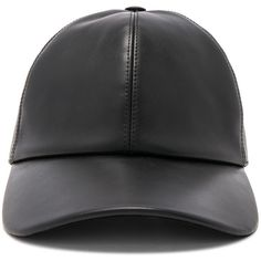 Buscemi Leather Baseball Cap ( 395) ❤ liked on Polyvore featuring men s  fashion de8a1f181f3