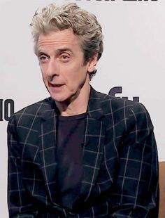 "capaldisthebest: "" doctorfriend79: "" Peter Capaldi (Twelfth Doctor) "" Look at his adorable face. """