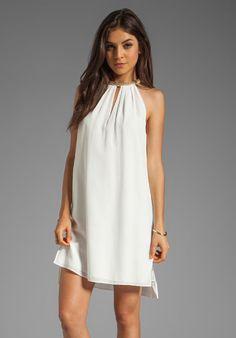 Rebecca Taylor Sequin Halter White Silk Mini Dress Sz 8 #RebeccaTaylor