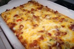 Anita's Recipe Blog: Bubble Crumb Bacon Breakfast Bake~~Cook bacon et.al. while potatoes are baking.~~