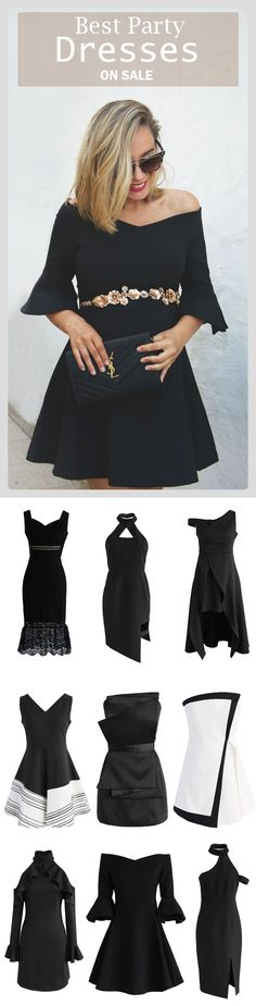 Find the cutest party dresses at Chicwish.com Simple Elegance Off-shoulder Dress featured by myshowroomblog