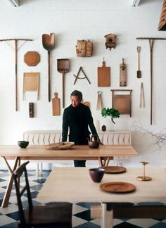 Khai Liew // adelaide shops // via the design files - great collection of interesting wood silhouettes on the wall. Home Decoracion, Inspiration Design, Bureau Design, Vogue Living, Home Tools, The Design Files, Retail Space, Display Design, Design Design