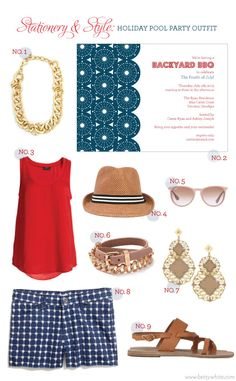 Stationery & Style: Holiday Pool Party Outfit