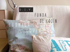 DIY Funda de cojín / Cushion cover http://xianna.net/blog/2013/05/10/diy-funda-de-cojin-cushion-cover