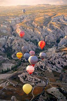 Goreme, Nevsehir, Turquia - Passeio de balão sobre Capadócia