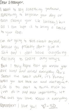 12 Best Letters From Strangers Images Helping Others Love Letters