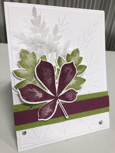 CC811 - Razzle Olive Leaves by djahner - FS714 at Splitcoaststampers Stampin Up Christmas, Fall Cards, Petunias, Stampin Up Cards, Mini, Card Ideas, December, Old Things, Greeting Cards