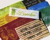 Personalized Cotton Twill Fabric Labels / by greenbeansnstrings