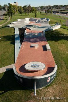 Port Colborne Skate Park, designed to replicate a ship! Installed by Patterned Concrete Ontario Inc.