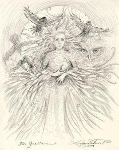 Custom Soul Drawings from Lisa Hunt Art | Created per the customer's keyword request.