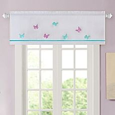 image of Alice Butterfly Embroidered Window Valance