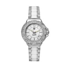 TAG Heuer Women's WAH1215BA0861 Formula 1 White Dial Watch TAG Heuer. $2207.74. Scratch resistant sapphire crystal. Stainless steel case. Case diameter: 35 mm. Water-resistant to 660 feet (200 M). Quartz movement. Save 31% Off!