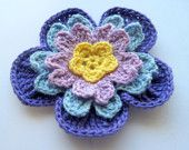 Crochet Flower Applique Embellishment