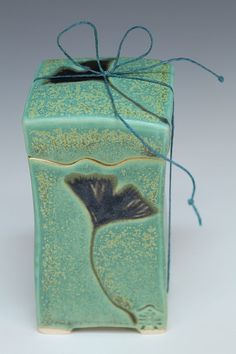Handmade Japanese wish box with gingko leaves by JoyImai on Etsy