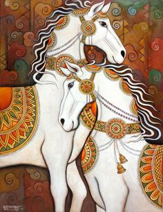Online Art Gallery AnYahh and Giveaway Kerala Mural Painting, Indian Art Paintings, Abstract Paintings, Oil Paintings, Kalamkari Painting, Madhubani Painting, Madhubani Art, Indian Folk Art, Mural Art