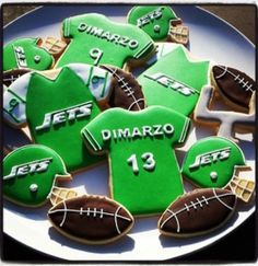 Sports Jersey with matching ball sugar cookies