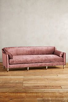 Slub Velvet Linde Sofa   Anthropologie.com
