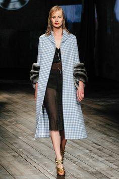 Prada Fall/Winter 2013 Ready-to-Wear Collection via Designer Miuccia Prada; modeled by Esther de Jong