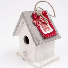 Vogelhuisje postzegel van thuis met Moon   Markita.nl