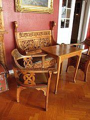Kviknes interior 06 (Bosc d'Anjou) Tags: norway furniture balestrand woodcarving mbler sognogfjordane treskjring kvikneshotel dragestil kvikneshotell ivarhyvik hyviksalen norwegianinterior