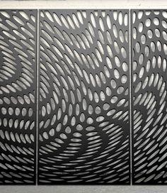 Laser cut screen - Ripple