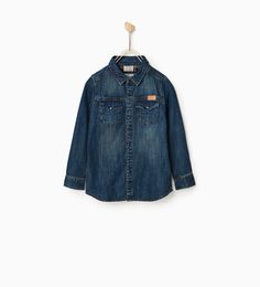 DENIM SHIRT WITH CONTRAST LINING