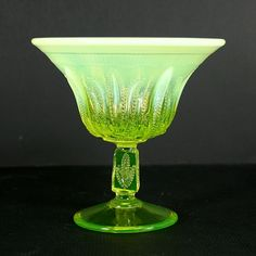 Fenton+Cactus+Topaz+Opalescent+Footed+Open+Nut+Dish