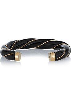 Aurélie Bidermann Diana gold-plated resin cuff | NET-A-PORTER