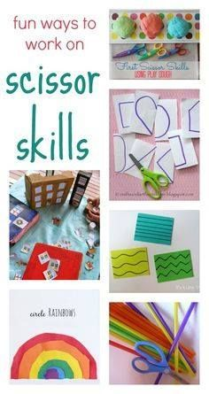 Fun ways to work on scissor skills for preschool and toddlers: