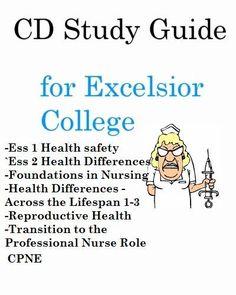 Excelsior College Nursing Test Prep Bundle Study Guides for  ALL 8 AD RN Exams #RNStudySpot
