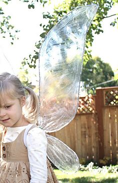 DIY wings- great for make believe and science lessons (insects)