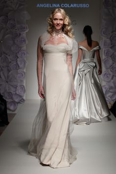 Ethereal silk gown by couture bridal designer Angelina Colarusso. Featured  on the catwalk at The 687054db521c