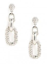 Our Silver Link Drops - glitzy, feminine, and tough... all at once.#Repin By:Pinterest++ for iPad#