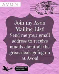 Mary The AVON Lady: Avon Catalog Request - See Details