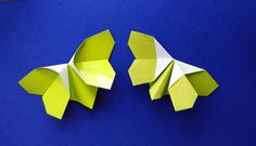 Бабочка - оригами (origami butterfly) Ideas for Easter and Mother's day. Origami Butterfly Easy, Origami Animals, Paper Crafts, Wall Decor, Awesome, Diy, Gifts, Youtube, Decoration