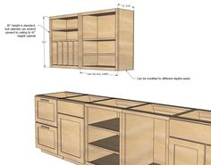 Cabinets: Build a Wall Kitchen Cabinet Basic Carcass Plan via Ana White