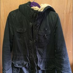 Marc New York Parka with Sherpa Lined Hood Marc New York Parka with Sherpa Lines Hood, worn minimally for two season, size petite in perfect condition Andrew Marc Jackets & Coats Puffers