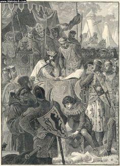 Jean sans Terre signant la magna Carta