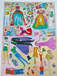 Paper Dolls Vintage Toy Doll Set Dress Up Clothes Girl Boy Uncut Classic Art 8…