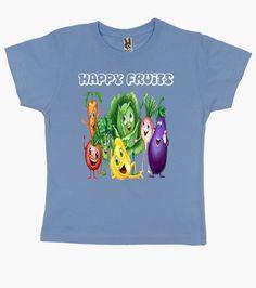 Camiseta niños, Las Frutas felices, en 9 colores a elegir por solo 19,90€