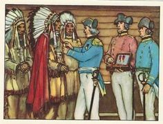 John Franklin giving a medal to the indian chief Akaitcho Princess Zelda, Fictional Characters, Art, Copper, Native Americans, Art Background, Kunst, Performing Arts, Fantasy Characters