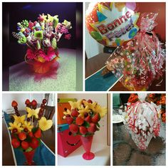 Buquet de frutas.ideal para las fiestas de los niños.