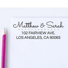 Custom Address Stamp - Self Inking  Return Address Stamp - Personalized Stamp (D5)