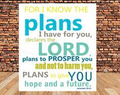 INSTANT DOWNLOADScripture Art bible verse Jeremiah by glorydesigns, $5.00