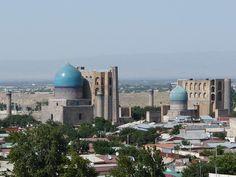 Los reflejos azules de Samarkanda I: El Registán Conquistador, Taj Mahal, Building, Travel, Blue Highlights, Blue Nails, Alexander The Great, Bazaars, Paths
