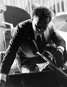 Miles Davis photographed by Robert W. Kelley, 1958.