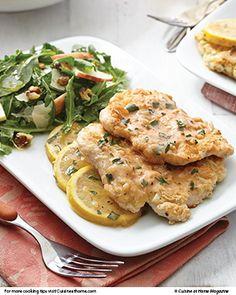 Light Chicken Francese   Cuisine at home eRecipes Serve with apple / arugula salad