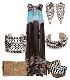 Maxidresses by outfits-de-moda2 on Polyvore featuring moda, Diane Von Furstenberg, Missoni, Jack Rogers, DANNIJO and maxidress